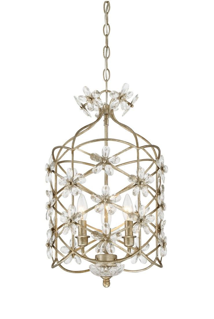Trade winds light mini chandelier in mixed silver trade wind