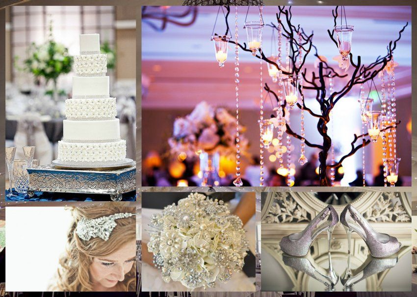 Bling Wedding - If you like things that are over the top & want that extra sparkle at your wedding, then planning a Bling wedding is just what you need! You can simply go all Bling for your wedding - right From your wedding cake, to your wedding gown, to the shoes, to the bridal bouquet...you name it!   www.pinkonnet.com  Photo Courtesy: Cake from Christina's Dessertery www.christinasdessertery.com/  & decor from S6 Photography: www.s6photography.co.uk/