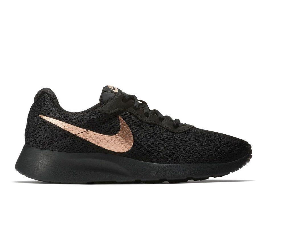 Nike Tanjun Black and Rose Gold | Gold