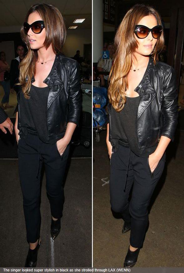 75937c6df9 Cheryl Cole wearing Tom Ford s fabulous Bardot Sharp Cat-Eye Sunglasses in  Black sold at Neiman Marcus.