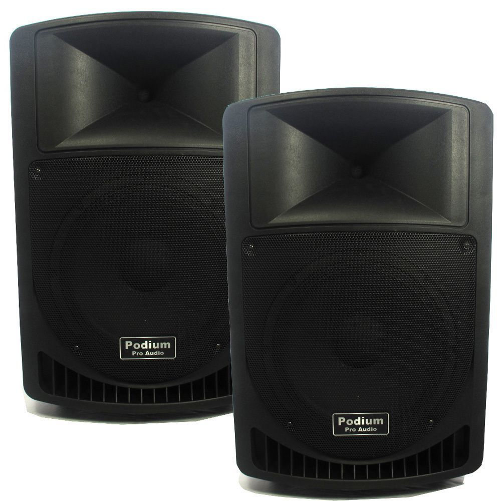 Podium Pro Pp1206a Battery Powered 12 Inch Active Speaker Pair With Best Mp3 Usb Amplifier And Radio Pink Players 1200w Playerspeakers