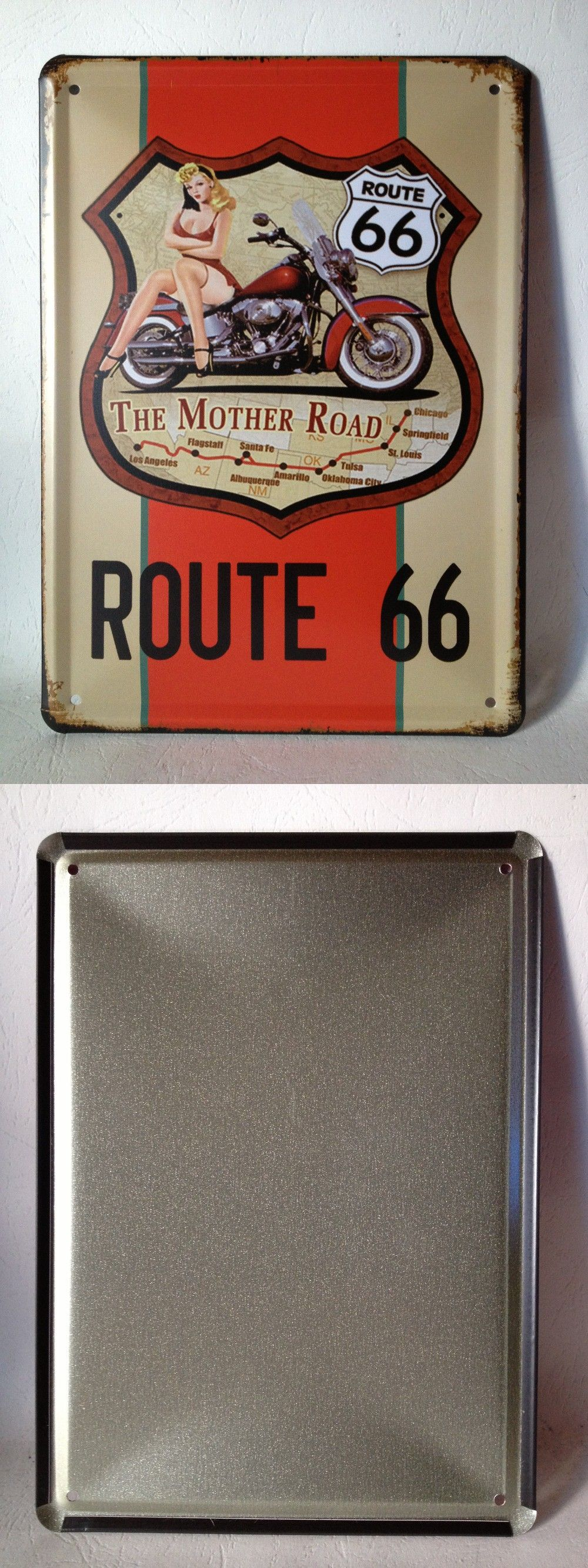 Xcm us route the mother road vintagetin sign bar pub home wall