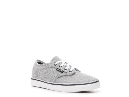 Women s Vans Atwood Low Girls Toddler   Youth Sneaker - Navy Grey ... 83c81bdb68