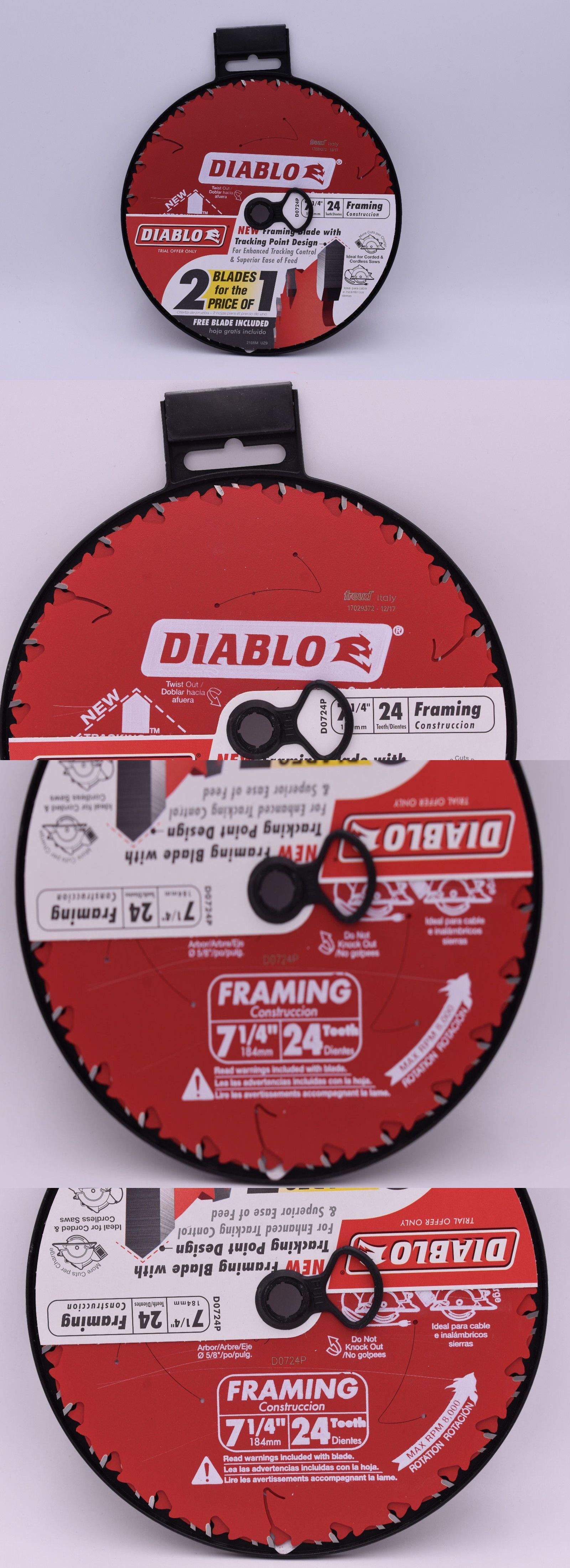 Saw Blades 122837: 2 Diablo 7-1 4 24 Tooth Framing Circular Saw