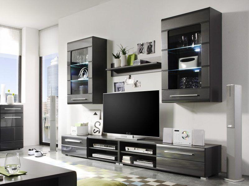 20 stilvolle ideen h lsta wohnwand zu gestalten m bel - Schwarze wohnwand ...