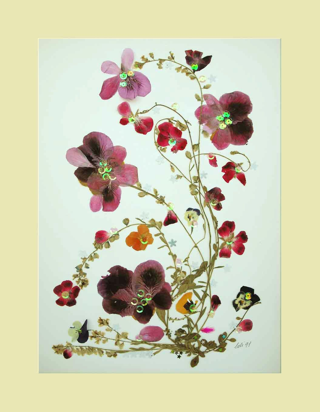 Uncategorized How To Make Pressed Flowers collage floral art luli 082 pressed flower dried leaves
