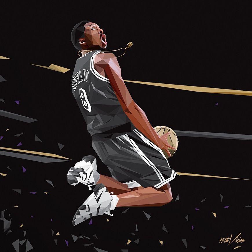 Kobe Bryant 'Golden Black Mamba' Art | Bad Ass Art ...