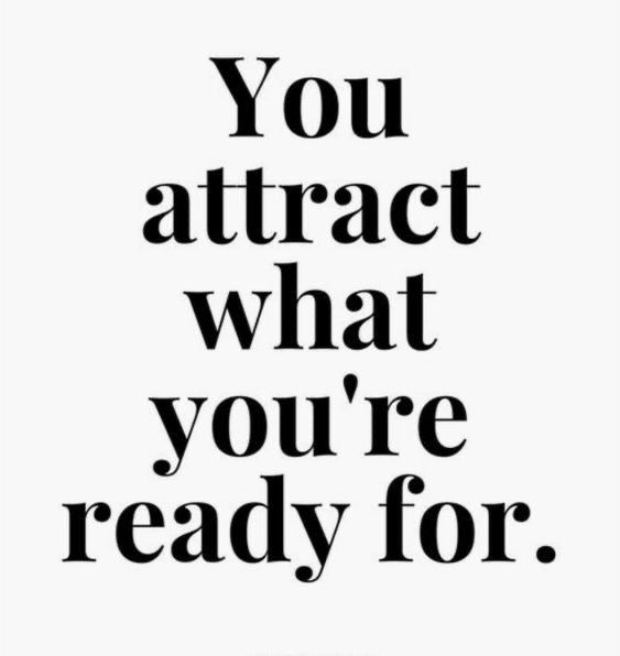 """""""You attract what you're ready for"""" 𝒱𝒾𝓃𝓉𝓏𝑜𝓃𝑒   Daily Quotes & Wallpapers"""