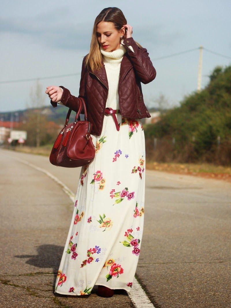 Look vestido largo invierno