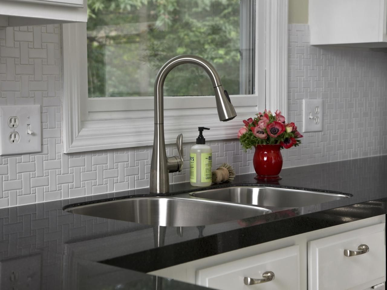 Laminate Kitchen Countertop Ceramic Tile BacksplashBacksplash IdeasWall