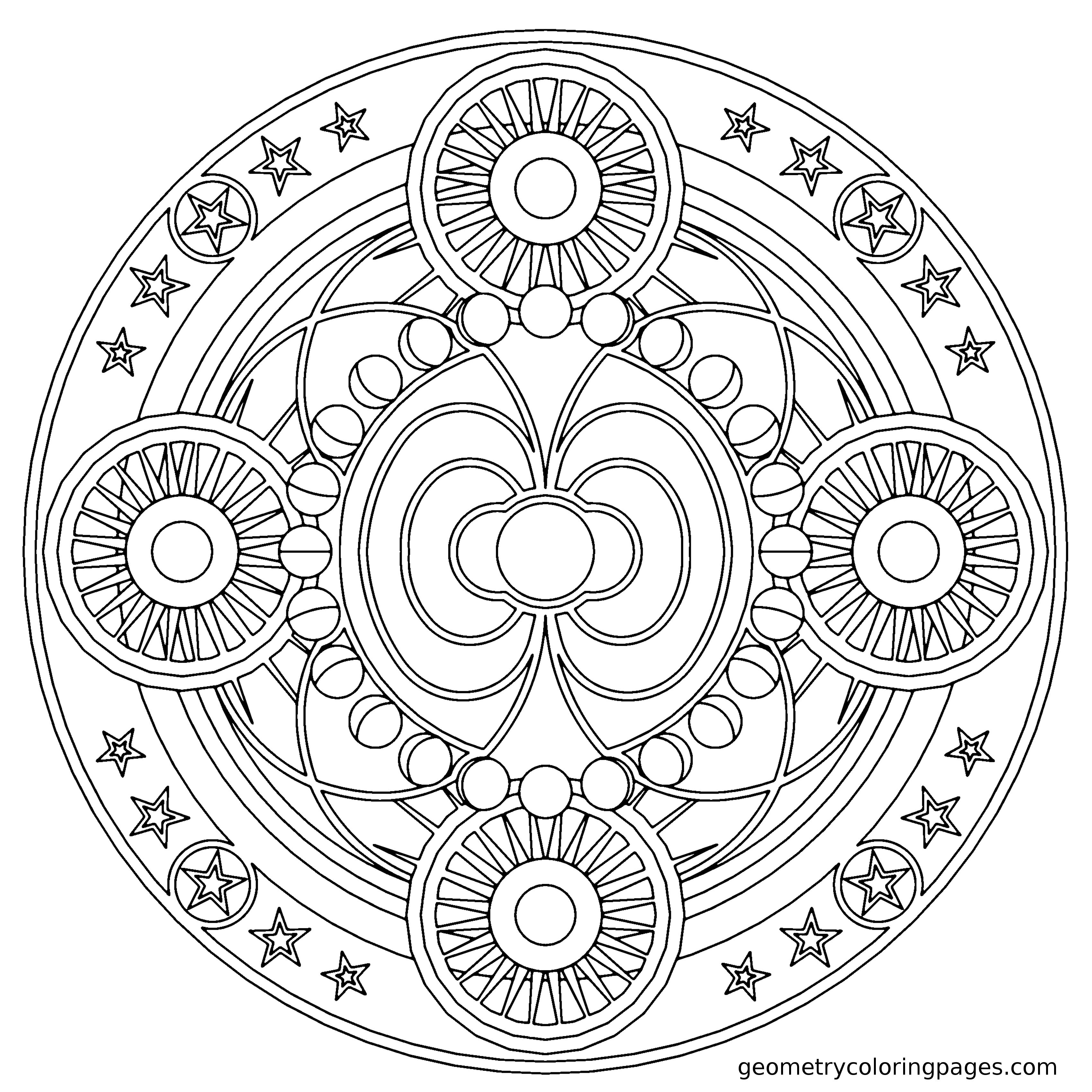 geometric coloring pages Fascia Geometry Coloring Pages