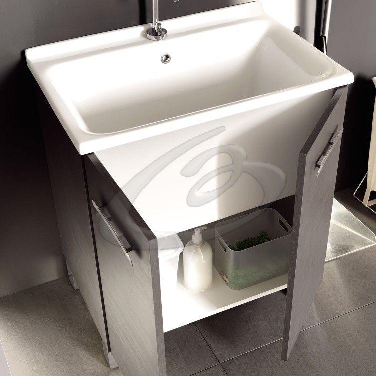 Lavatoio in ceramica acquaceramica colavene mobile a terra - Mobile lavatoio ...