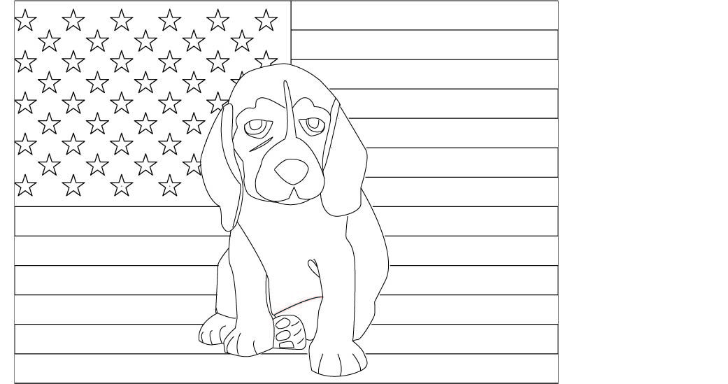 Happy Fourth Of July Important Safety Tips For Beagles And A Fun Beagle Coloring Page