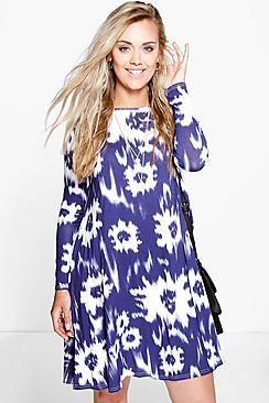 Plus Tina Tie Dye Swing Dress