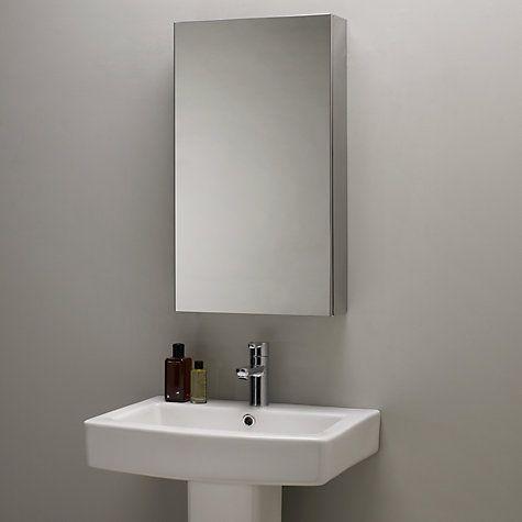 John Lewis Partners Single Mirrored Bathroom Cabinet Large