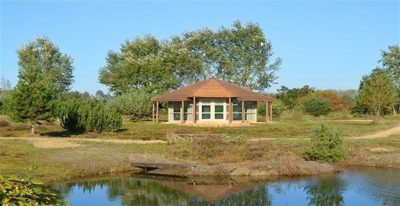 't Heidehuisje in Westerwolde, Drenthe, Nederland. http