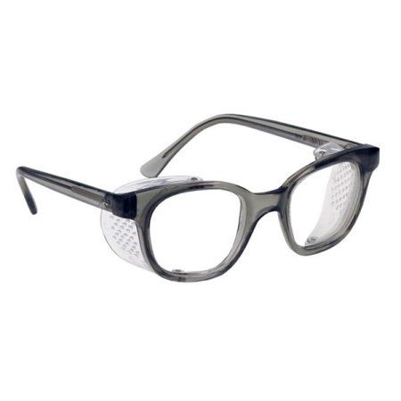 9e04dcac433 Buy Glass Safety Glasses in Plastic Smoke Gray Safety Frame with Permanent  Side Shields