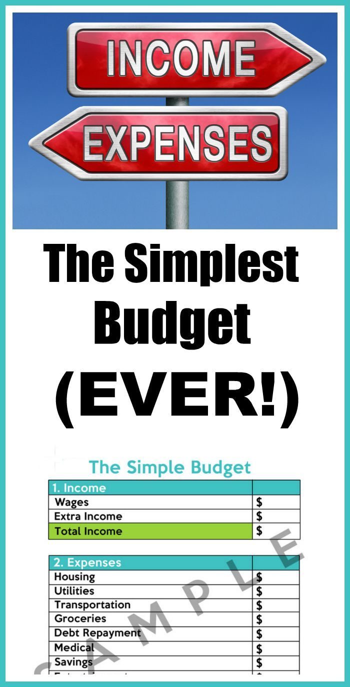 How To Make A Simple Budget Worksheets Budgeting And Frugal Living