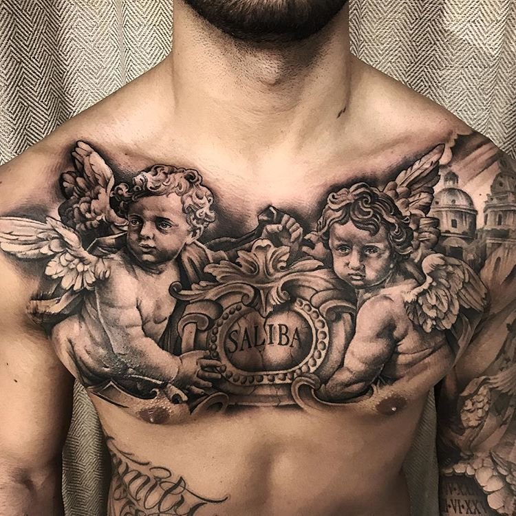 """Andy Blanco on Instagram: """"Here's another pic of the chest piece I posted earlier📸"""""""