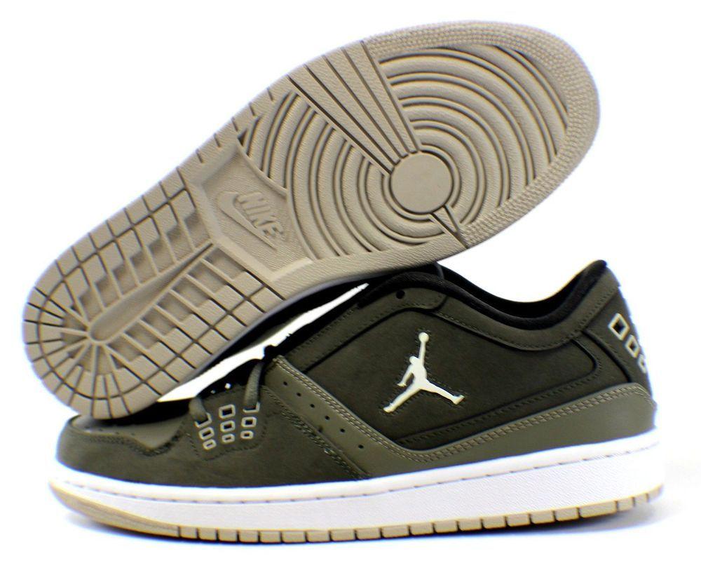 separation shoes 2b61b 4e9f6  350610-330  NIKE Air Jordan 1 Flight Low Men s Shoe Sz 11 Cargo  Green White NEW  Nike  BasketballShoes