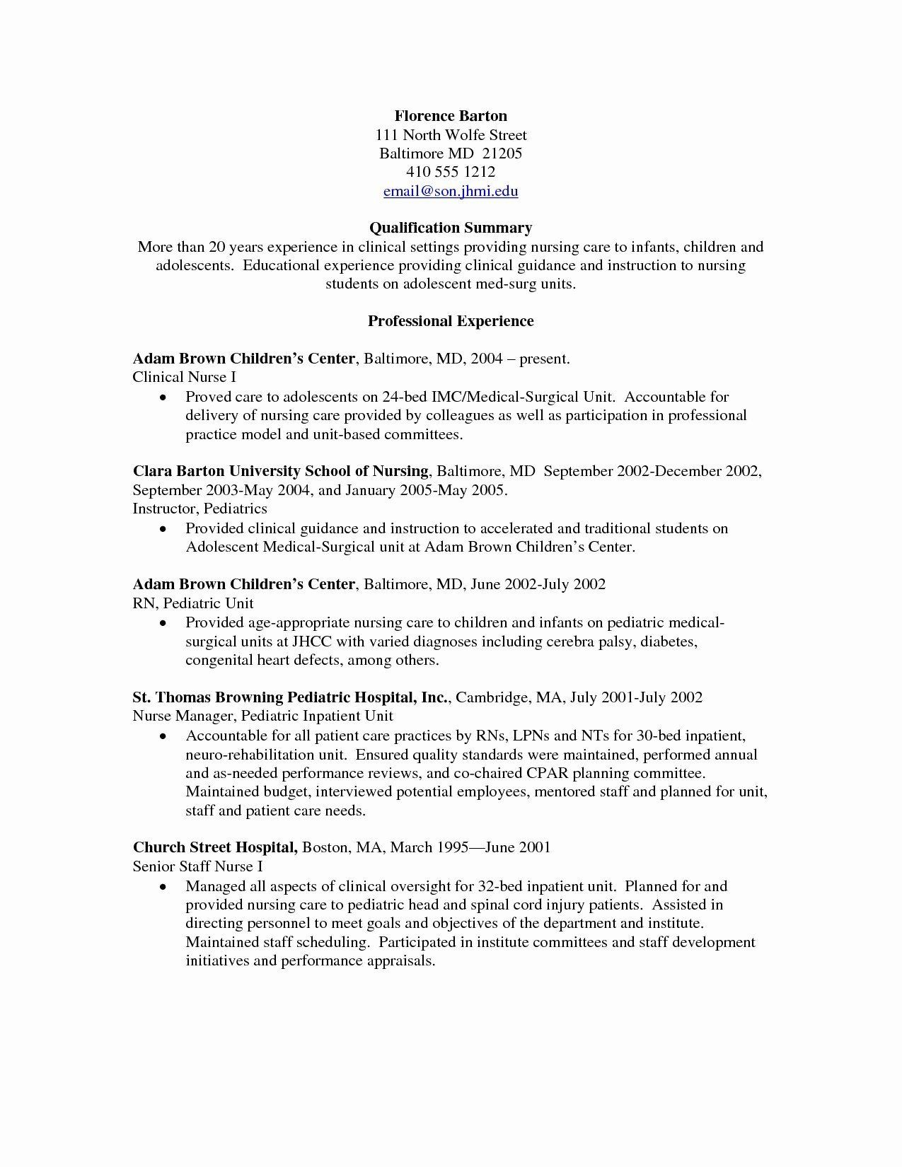 Labor and Delivery Resume Fresh Awesome Labor and Delivery