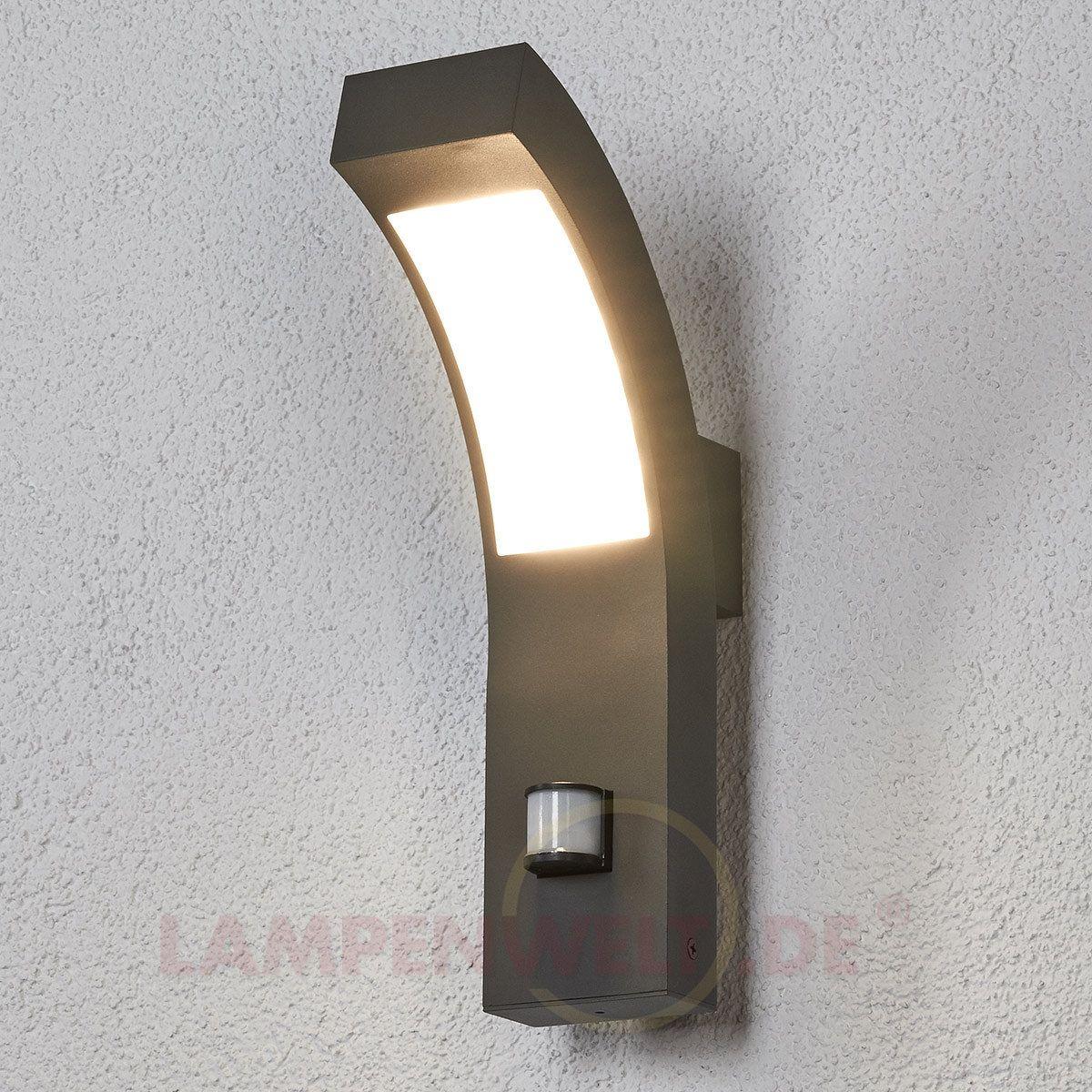 Led au enwandleuchte lennik mit bewegungsmelder kaufen lampen au enwandleuchte led und aussen - Wandbeleuchtung aussen ...