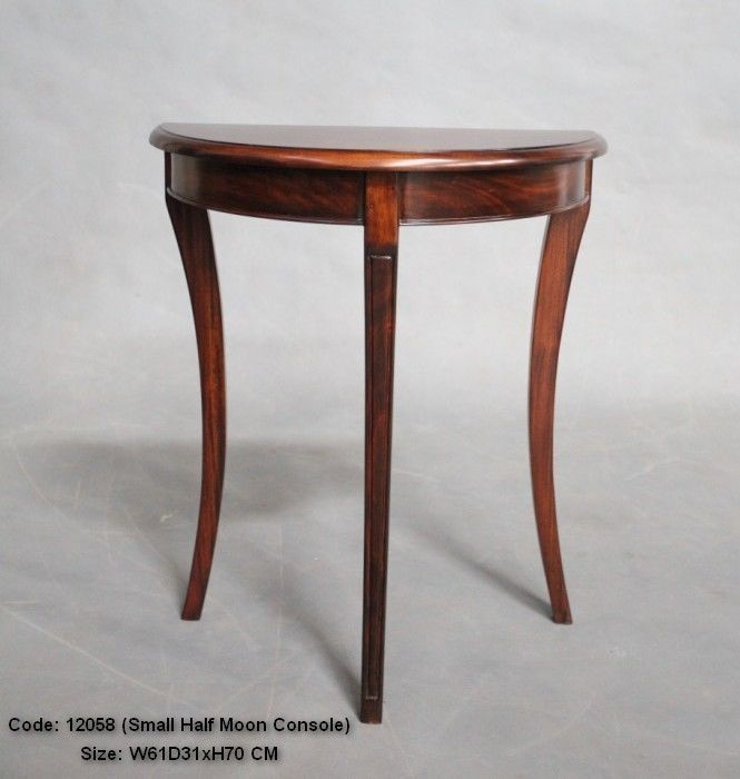 Charming Antique Style Solid Mahogany Half Moon Hall Table Side Table Console Table  1205