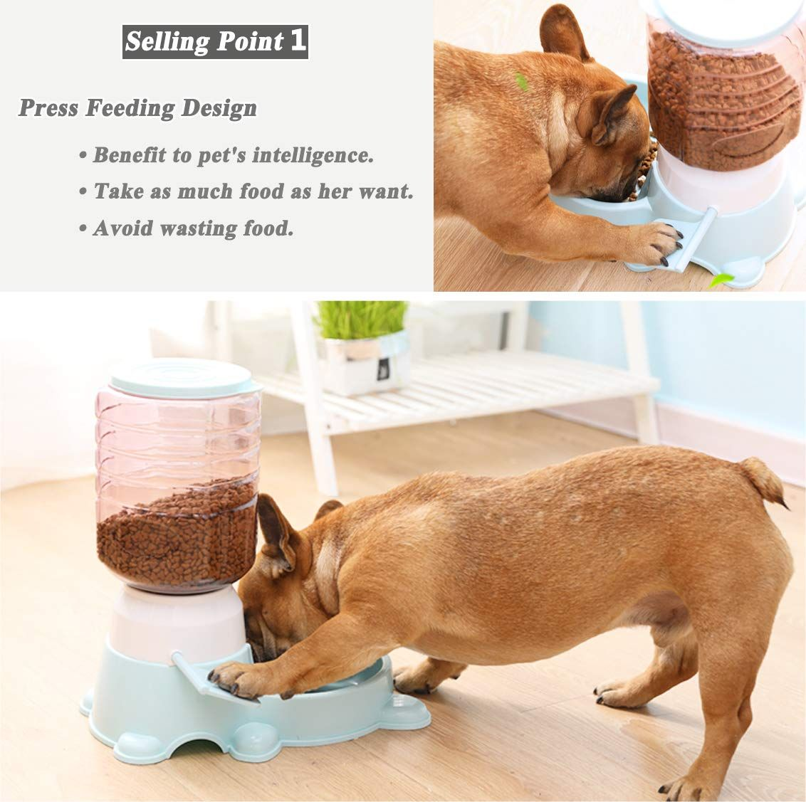 Jmini Pet Feeder 3 8l Press Pedal Self Feeding Dry Food Dispenser For Cat Dog Reg Price 39 99 Final Price 19 99 50 Off After Th Pet Feeder Pets Dog Feeder