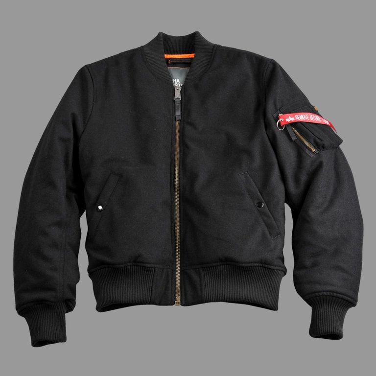 81cc9ca670b Alpha Industries MA1 Wool Black