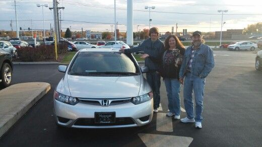 Kim Robbie And Dale I Appreciate You And Your Family Driving A Long Way To See Me To Get Your New Honda Civic Si Jay Honda Civic Si New Honda Honda