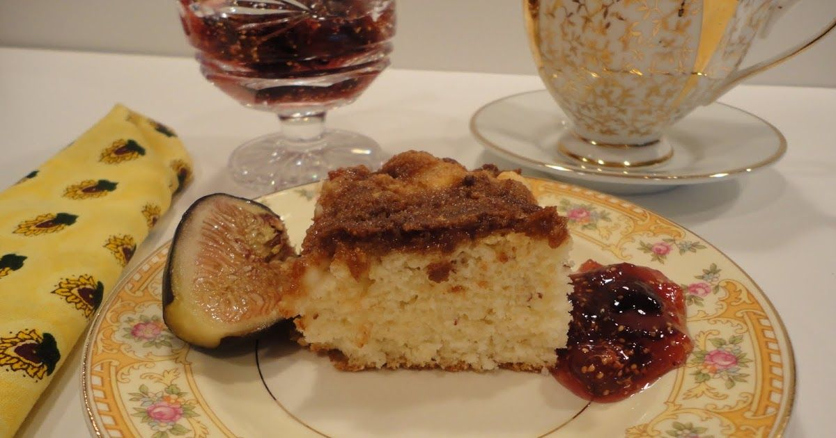 Cottage cheese coffee cake with fig jam coffee cake fig