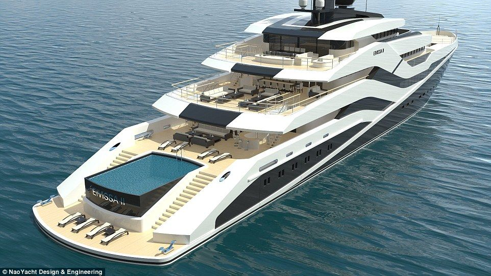 The Ibiza-inspired superyacht with a 23ft swimming pool ...