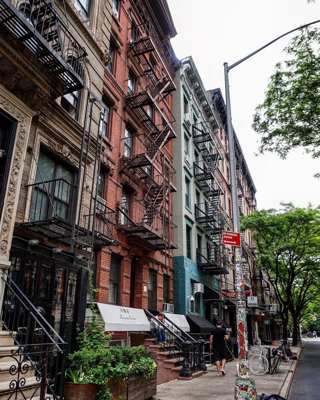 Streets In Manhattan: East Village Manhattan City Building Street Background
