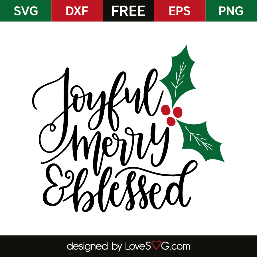 28+ Christmas Svg, Blessed Svg, Merry Blessed Svg, Joyful Snowflake Svg File, Cutting Files, Winter Svg, Silhouette Cameo PNG