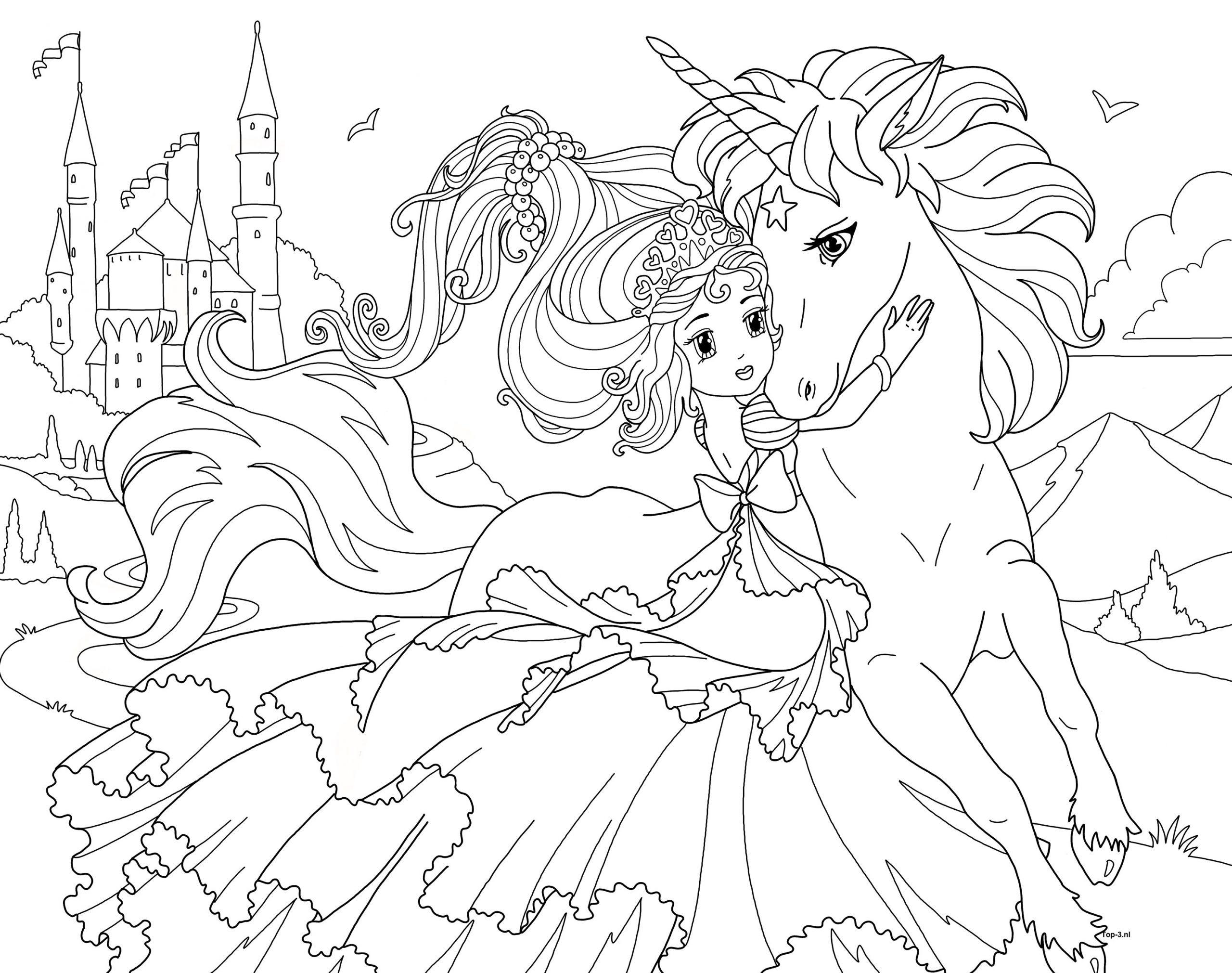 Kleurplaat Prinses Kleurboek Kleurplaten Prinses Kleurplaatjes