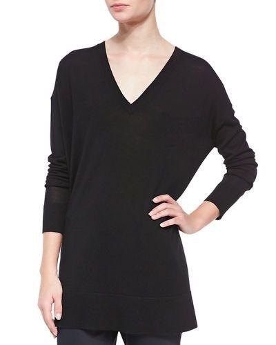 c908c210ac622 B2KTP THE ROW Amherst Long-Sleeve Oversized V-Neck Sweater | Decor ...