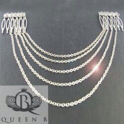 Silver Chain Hair Jewelry