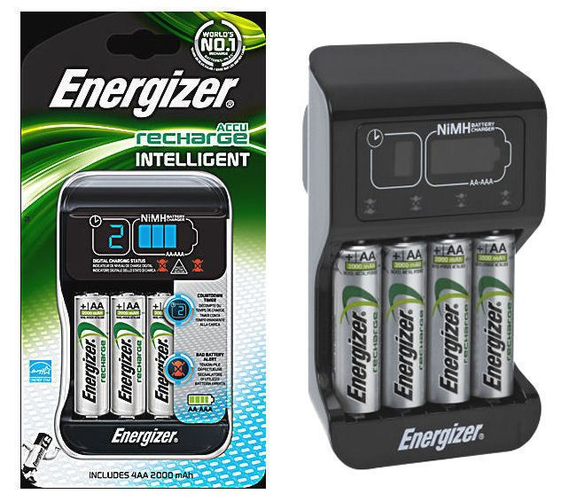 Energizer Intelligent Charger 4 X 2000 Mah Aa Rechargeable Batteries