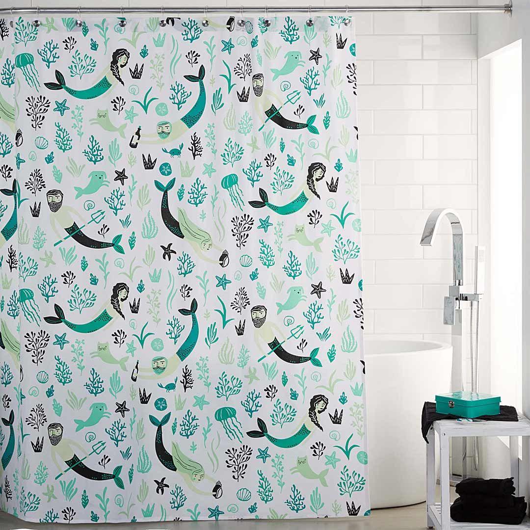 sea spell shower curtain   simons #maisonsimons #thehighseas #decor