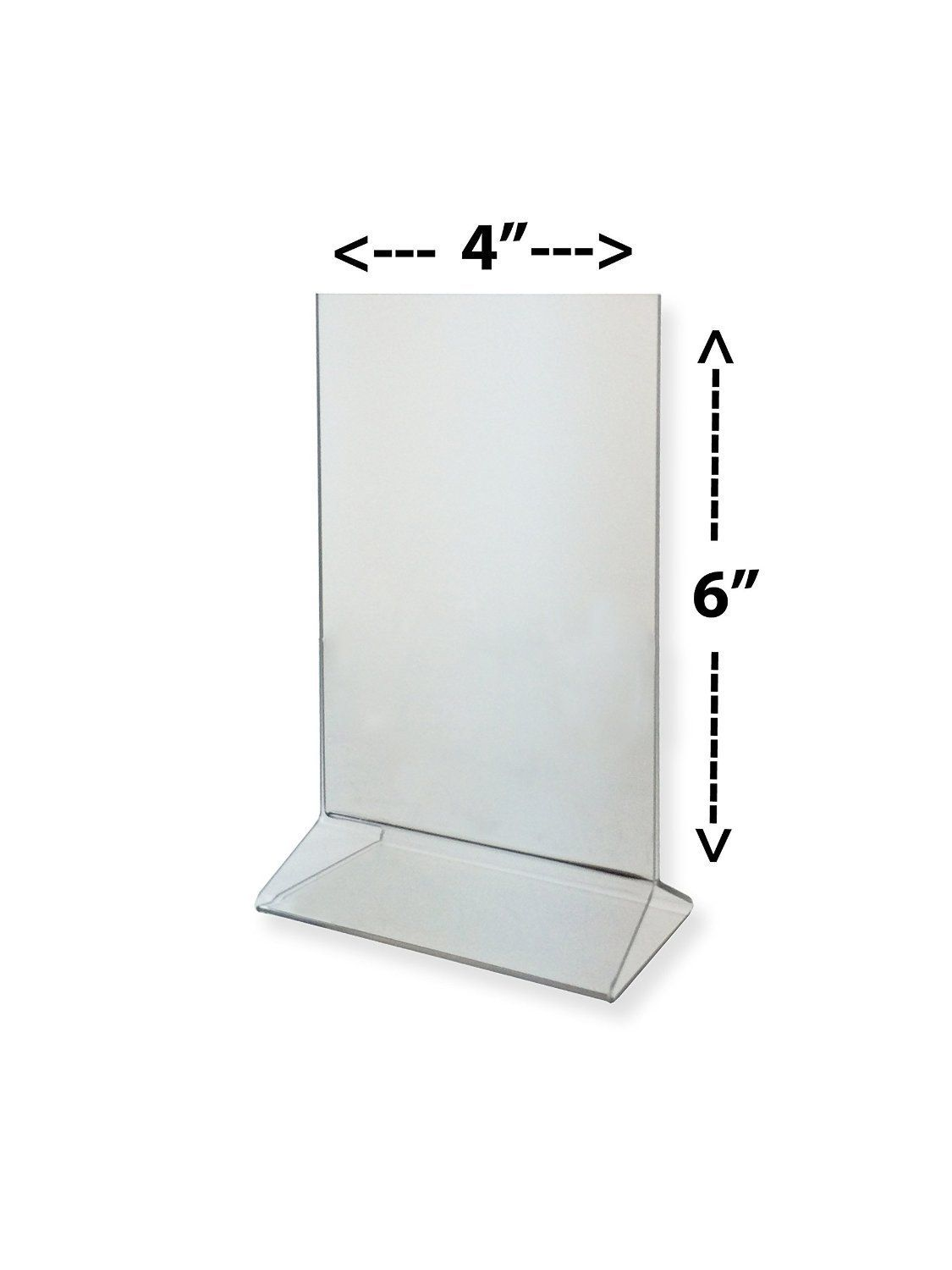 Amazon Com Marketing Holders 4 X 6 Acrylic Sign Holder Clear Table Card Display Plastic Upright Menu Ad Frame Acrylic Sign Sign Holder Display Cards