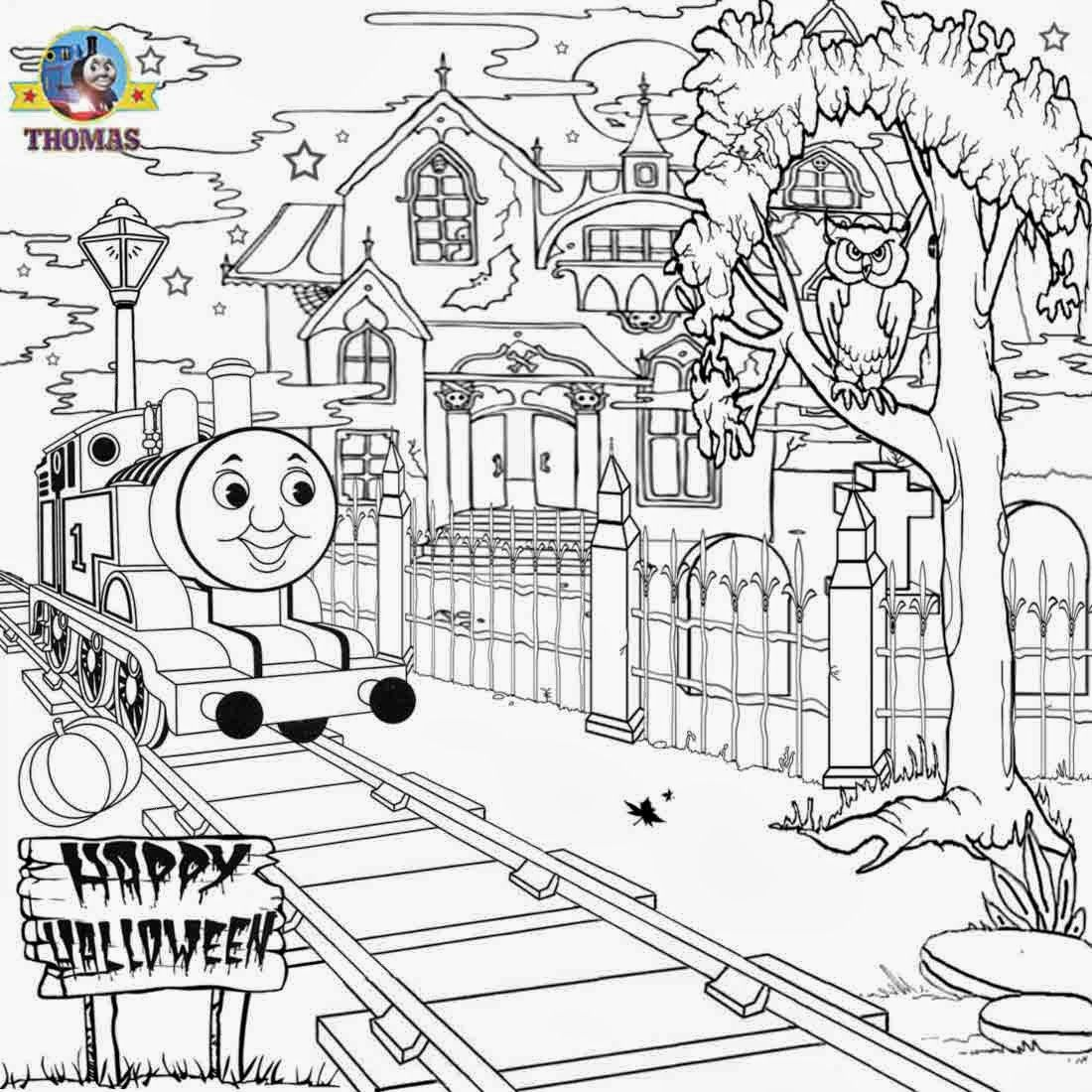 Thomas the train halloween coloring - Thomas The Train Halloween Worksheets For Kids House Thomas N Friend Coloring Pictures To Color