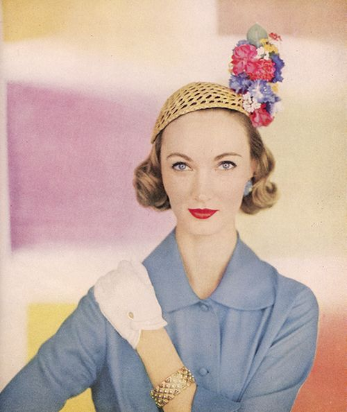Evelyn Tripp Vintage Icon Vogue Model 40s 50s 60s   50s Hats