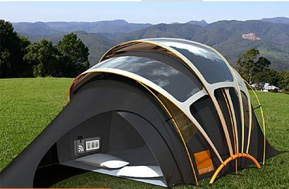 Solar Tent for high-tech c&ers Futuristic concept tent can harness solar energy to provide electricity to portable gadgets. Orange utilizing cutting edge ... & Solar tent | Camping | Pinterest | Tents Solar and Gadget
