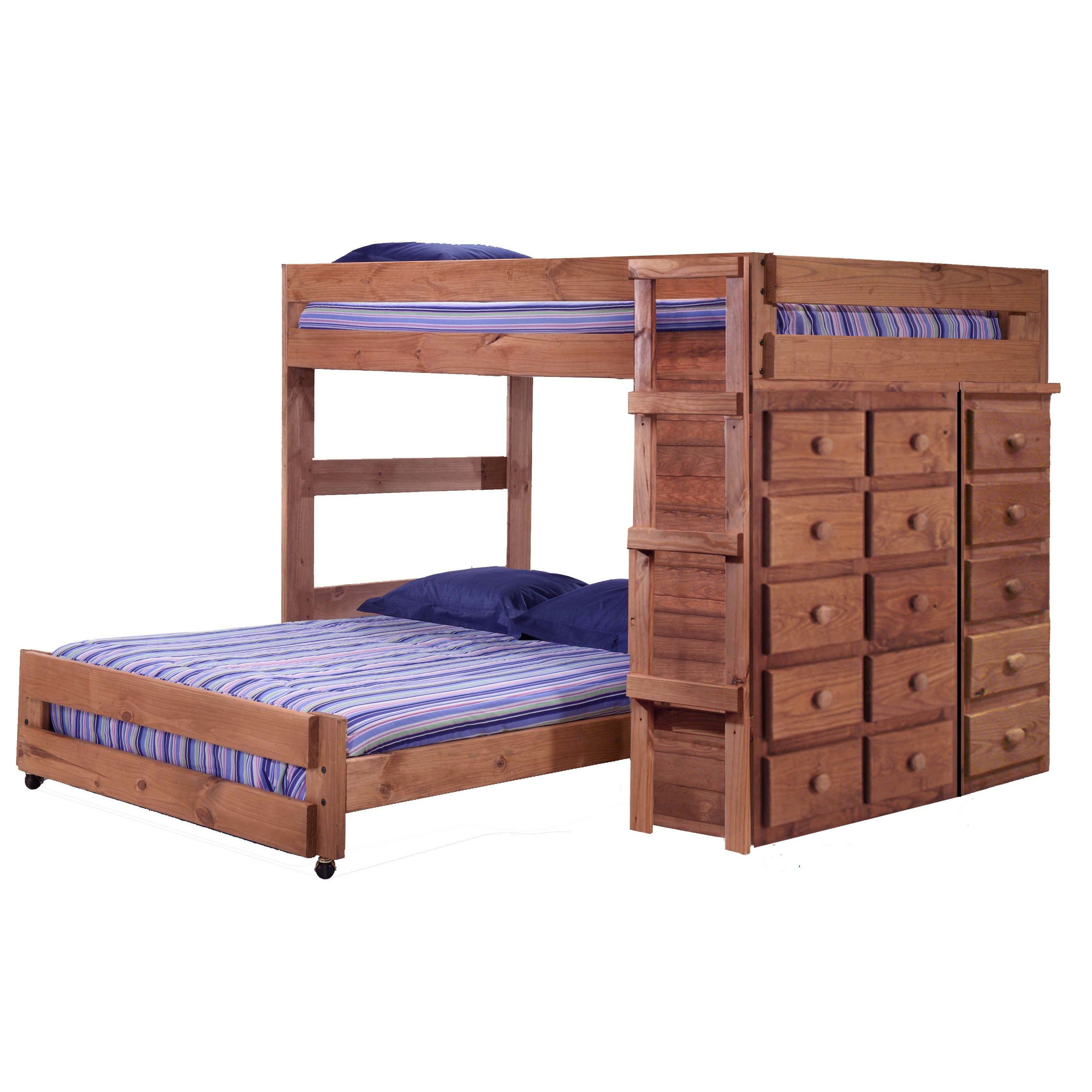 Loft bed storage ideas  Chelsea Home Full over Full LShaped Bunk Bed with Storage  Kids