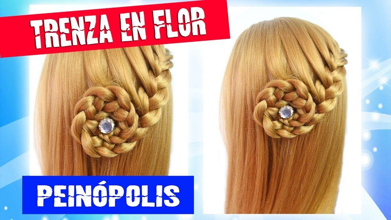 Peinados Con Cabello Suelto Trenza En Flor Faciles Y Rapidos Y