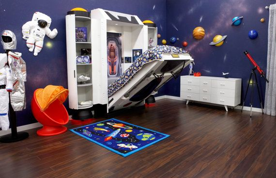 Spaceship Bed Space Themed Bedroom Space Themed Room Bedroom Themes