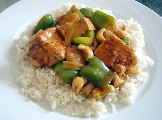 Vegan cashew chicken stir fry recipe cashew chicken tofu need an asian inspired stir fry recipe with a bit forumfinder Image collections
