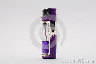 Lighter violet profile with white background