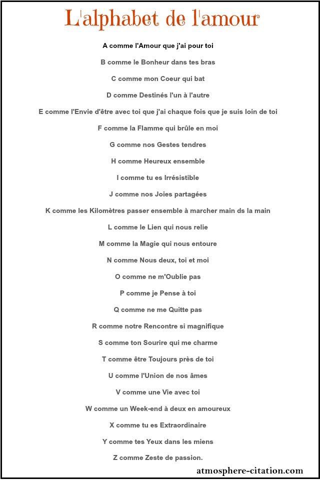 Lalphabet De Lamour Citation Amour Heureux Amour Et