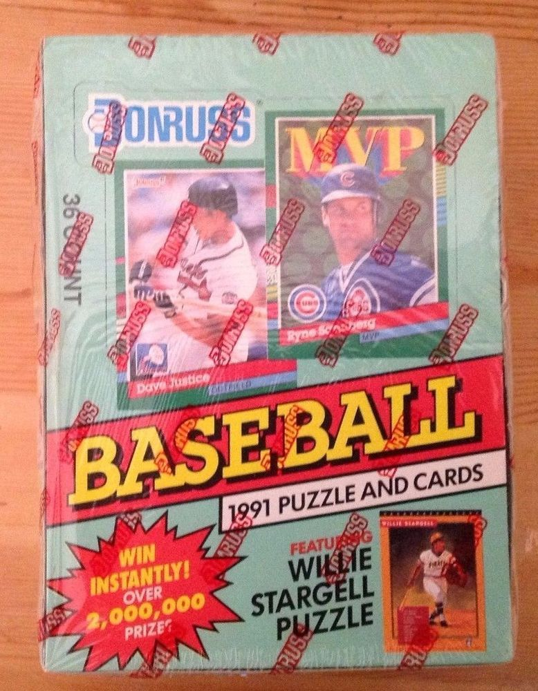 1991 donruss baseball card series 2 36 pack count